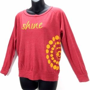 Alternative Earth Shine Red Orange Yoga Sweater M